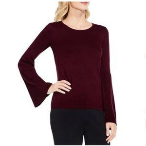 Vince Camuto L Red Pullover Knit Sweatshirt